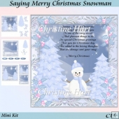 Saying Merry Christmas Snowman Mini Kit