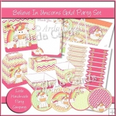 Believe In Unicorns Gold Party Set