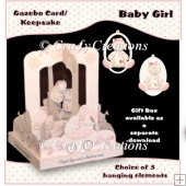 Baby Girl Gazebo Card/Keepsake