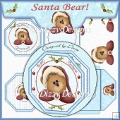 Santa Bear! Octagonal Card Kit