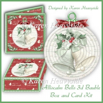 Alliscalm Bells 3d Bauble_Card_Box Kit