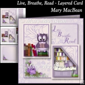 Live, Breathe, Read - Layered Card