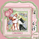 Best Friends 8x8 Decoupage Kit for Birthday Anniversary