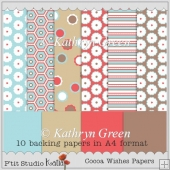 10 Modern A4 Backing Papers for Autumn and Winter Projects