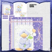 Ducks flower for you card with decoupage