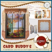 Autumn Woods Window 7x7 Shadow Box Fold Card Kit
