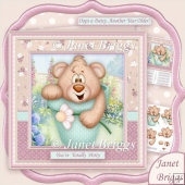 Totally Potty 8x8 Decoupage Kit