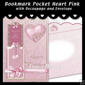 Bookmark Pocket Heart Card Kit (Pink)