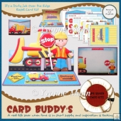 It's a Dirty Job Over the Edge Easel Card Kit