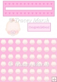 Baby Girl with Pacifier Penny Slider Sheet