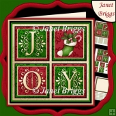 JOY SQUARES & Christmas Stocking 7.5 Quick Layer Card & Insert