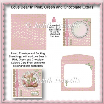 Love Bear In Pink, Green And Chocolate Extras