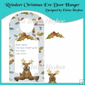 Reindeer Christmas Eve Door Hanger