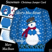 Snowman - Christmas Jumper Card
