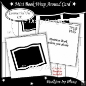 Mini Book Wrap Around Card Template