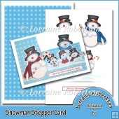 Snowman Stepper Card