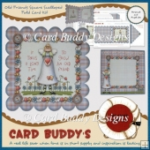 Old Friends Square Scalloped Fold Card Kit
