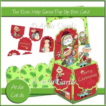 The Elves Help Santa Pop Up Box Card