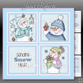 Chilly Christmas Squares Mini Kit