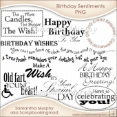12 Birthday Sentiments Word Art PNG