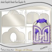 Arched Gatefold Stacked Card Template #4