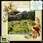 Cothele (2) An Enchanted Garden 8x8 Floral Decoupage Card Sheet