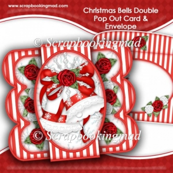 Christmas Bells Double Pop Out Card & Envelope
