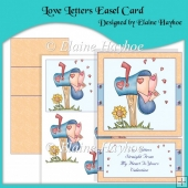 Love Letters Easel Card & Decoupage