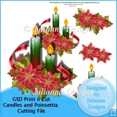 GSD Print n Cut Candles and Poinsettia Cutting File
