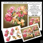 Spring Blooms and Birds Mini Kit