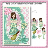 Fairy Girl On Toadstool Envelope Card Front