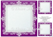 "Purple (1) Lace Frames - One 8"" x 8"" and Two 3"" x 3"""