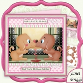Woof You to the Moon and Back Valentine Birthday Anniversary Kit