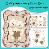 Cuddly Anniversary Bears Card