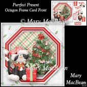Purrfect Present - Octagon Frame Card Front