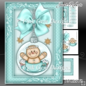 Gingerbread Bauble A5 Mini Kit