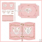BABY GIRL BOOK CARD WITH STAND AND BOX
