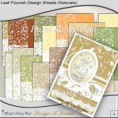 Leaf Flourish Design Sheets (Naturals)