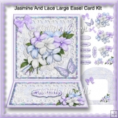 Jasmine And Lace Large Easel Card Kit