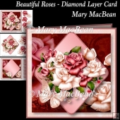 Beautiful Roses - Diamond Layer Card