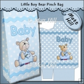 Little Boy Bear Pinch Bag