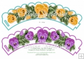 Pretty Pansy Flower CupCake Wrappers