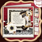 ELEGANT CHRISTMAS STOCKING 7.7 Decoupage & Insert Kit