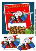 8X8 Santa's Here Topper/card Front