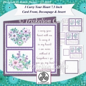 I Carry Your Heart 7.5 Card Front with Bride & Groom Tiles