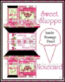 Sweet Shoppe Notecard with Message Insert