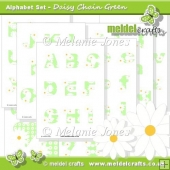 Daisy Chain Green Alphabet & Numbers