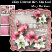 Village Christmas Wavy Edge Card