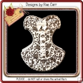 676 Feminine Corset Card *Multiple MACHINE Formats*