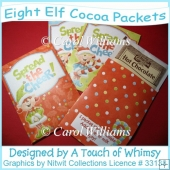 Eight Elf Cocoa Packet Covers